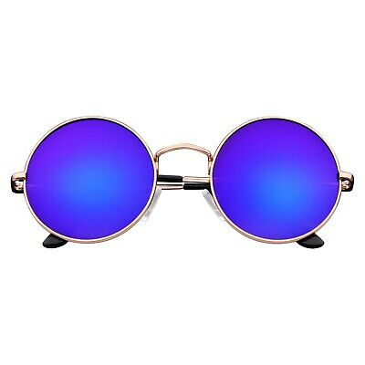 John Lennon Sunglasses Round Hippie Shades Retro Reflective Colored Lenses