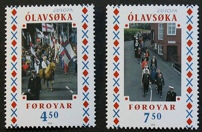 Europa, National festivals stamps, 1998, Faroe Islands, SG ref: 346 & 347, MNH