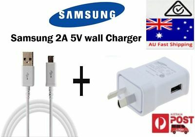 Samsung 2A AC wall charger or micro USB Data cable cord for Galaxy S4 S6 J1/3/5