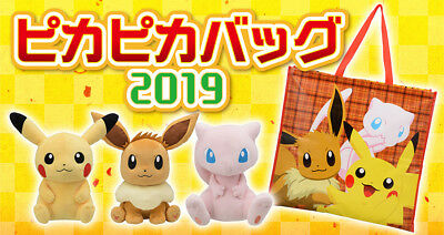 EMS Pokemon Center Official Fukubukuro Lucky Pikapika Bag 2019 Plush lot JAPAN