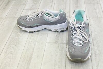 Skechers D'Lites Life Saver Athletic Shoes - Women's Size 10 - Gray/Mint