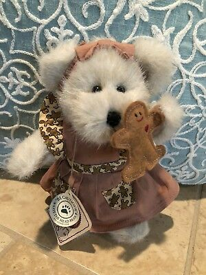 "Boyds Bears Mary Kate Gingerbeary #904033 2002 8"" Plush W/Gingerbread Man NWT"
