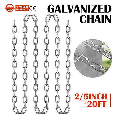 "3/8"" X 20' GRADE 30 Yellow Proof Coil Powder Coated Safety Chain Swing Set Chain"