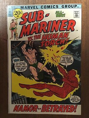 Sub-Mariner #44 Vf/nm Human Torch  Marvel  1971  This Book Is A Real Beauty!