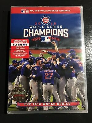 OFFICIAL 2016 WORLD SERIES FILM CHICAGO CUBS CHAMPIONS New Sealed ... 9e7256460fac