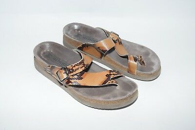 5b32b8941a17 MEPHISTO WOMENS HELEN Snakeskin print leather Sandals 40 US 10 ...