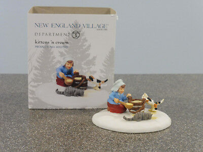 "D56, New England Village, ""Kittens and Cream"", retired 2014, NIB"