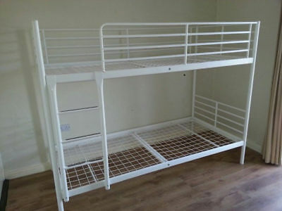 Ikea Tromso Bunk Bed White Metal Frame Used In Good Clean