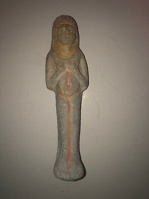 Fine Antique Egyptian Faience Ushabti Shabti Stone Statue Figure