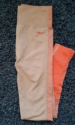 86f5d20c86fbeb Gymshark Amplify Seamless Leggings - Small - Taupe/Coral - DISCONTINUED-  NWOT