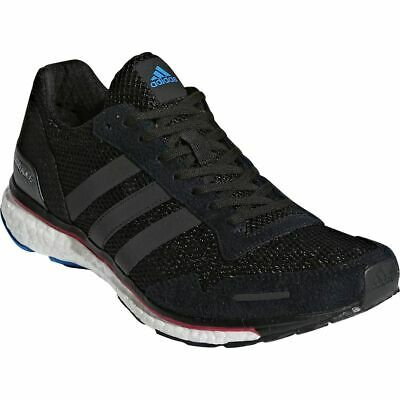 5f20c98fded1 Womens Adidas Adizero Adios 3 Black Athletic Running Sport Shoe AQ0192 Size  8-11