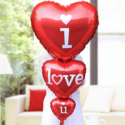 Big Balloon (I Love You) Happy Valentines Day Party Decoration Heart