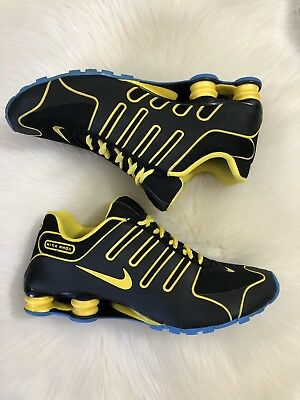 on sale ddf7c 11ac0 Nike Shox NZ Livestrong Men s Size 11 Black Yellow Blue Running Sneakers