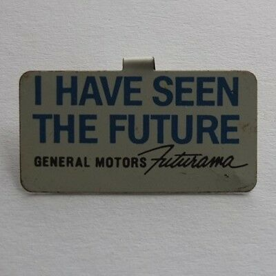 General Motors FUTURAMA souvenir pinback from the New York World's Fair, 1964-65