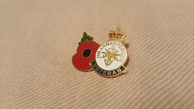H M Armed Forces Veteran Badge And Poppy