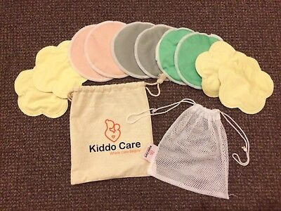 Washable Organic Bamboo Nursing Pads -10 PACK (5 pairs) Reusable Breast Pads