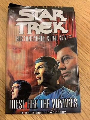 Star Trek CCG 2E These Are The Voyages Complete Set.