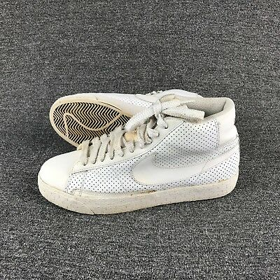 timeless design c2904 95bc6 MENS SIZE 10 Nike Blazer High Perforated White on White Stealth Fashion  Sneakers
