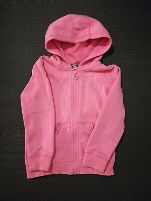 Girls Pink Zip Up Hoodie Age 3-4 Years