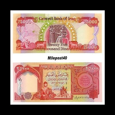 (20)- 625,000 25,000 IQD Notes - AUTHENTIC - FAST DELIVERY FOR 575.00