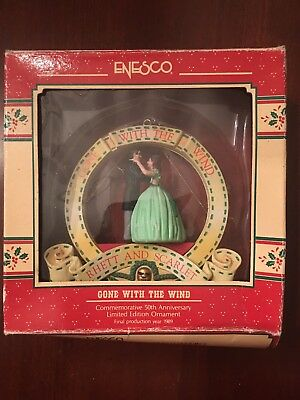 """1989 Enesco GONE WITH THE WIND """"RHETT AND SCARLET"""" Limited Ed Ornament"""
