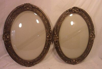 PAIR of antique victorian BUBBLEGLASS frames16 3/4 x 22 3/4 holds 13 3/4x19 3/4