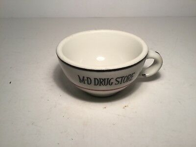 Vintage Mayer China Coffee Cup M-D Drug Store Advertising USADinnerware