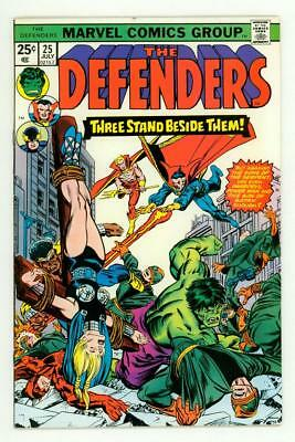 Defenders #25 Vf+ 8.5 Crucifixion Cover Comic 1975