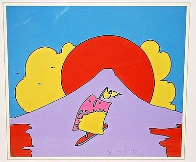 Peter Max 1972 Floating in Peace 147/300 Original Signed & Framed Print