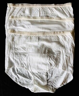 3 NOS Vintage SEARS BEST Size 7 Cotton Full Cut Brief Granny Panties USA Made