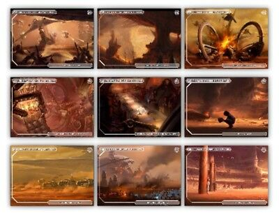Geonosis Concept-Wave 3-Aotc-White 9 Card Set-Topps Star Wars Card Trader