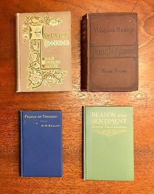 19th & 20th Century Collection of Psychology and Philosophy Books, Nicely Bound