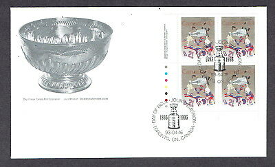 Canada FDC - 1993 - Stanley Cup Scott # 1460, Plate Block