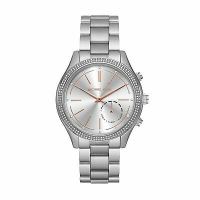 BRAND NEW MICHAEL KORS ACCESS MKT4004 42mm SLIM RUNWAY SILVER HYBRID SMARTWATCH