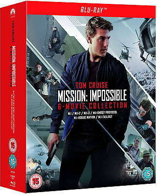 Mission Impossible 6 Film Collection 1-6 Fallout Blu-ray New Region Free A,B,C!