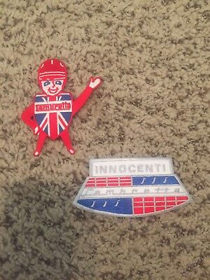 Lambretta Innocenti Scooter Patch Lot Of 2 Skins Mods Oi! Vintage