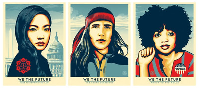 Shepard Fairey Obey We The Future For the Classroom & Beyond Numbered 450 People