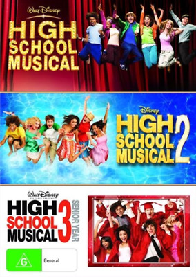 High School Musical 1 2 3 BRAND NEW Region 4 DVD