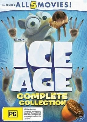 Ice Age Complete Collection All 5 Movies BRAND NEW Region 4 DVD 1 2 3 4 5