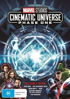 Marvel Studios Cinematic Universe Phase One 1 BRAND NEW R4 DVD