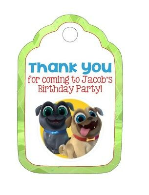 18 Personalized Puppy Dog Pals Inspired Party Stickers Birthday