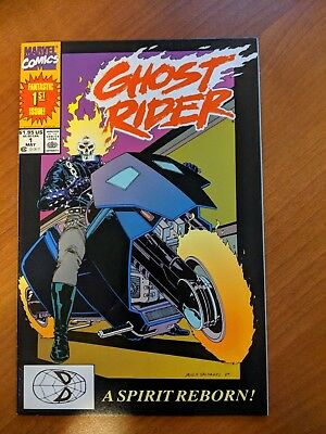 Ghost Rider #1 Vf/nm To Nm- 1990 1St App Danny Ketch & Deathwatch