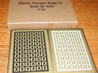 Authentic Original 1973 Playboy Playmate Bridge Set Playing Cards Sealed Nos