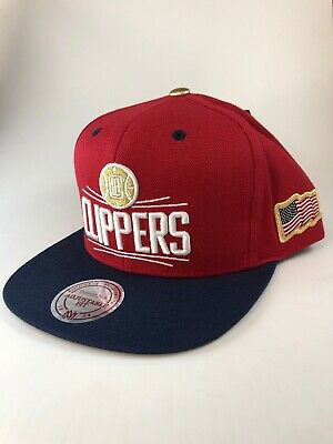 the latest d9e7a 06135 Los Angeles Clippers Mitchell   Ness 2 Tone Snapback Hat Cap NBA