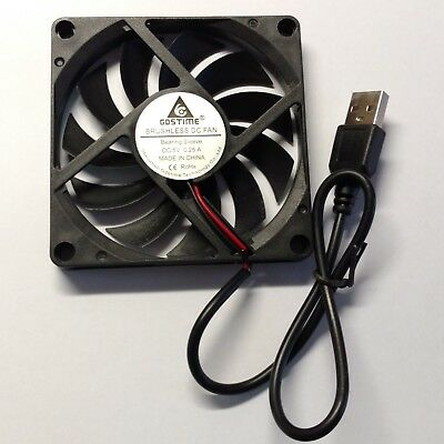 5V USB 80mm x 15mm Computer PC Case Brushless Cooling Fan - Aussie Seller