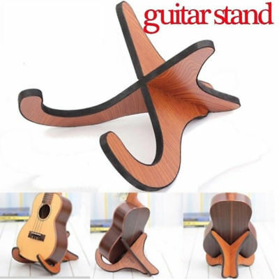 Portable Wooden Foldable Ukulele Guitar Violin Stand Musical Instrument Stand 2x