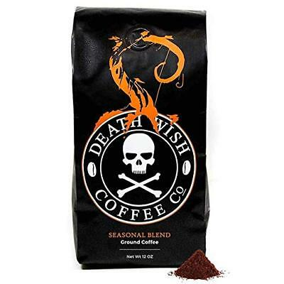 Death Wish Pumpkin Spice Coffee - Ground - 12 oz Bag    FREE EXPEDITED SHIPPING!