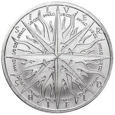 Pieces of Eight - 2019 Silver Shield Art-Round - 1 oz .999 Fine Solid Silver