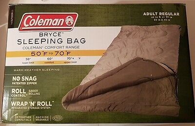 Coleman Bryce Warm Weather (50 To 70 Degree) Adult Sleeping Bag