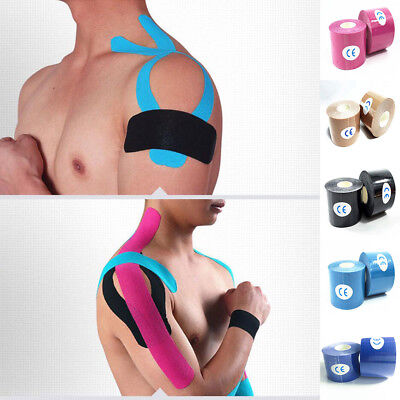 5M Athletic Muscle Tape Kinesiology Strapping Sport Knee Body Breathable  New UK